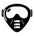 paintball mask equipment icon simple style vector image vector image