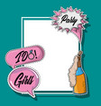 party frame prop vector image