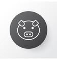 pig icon symbol premium quality isolated piglet vector image