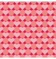 Pink and red valentines tile background with heart vector image vector image