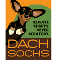Poster funny Dachshund dog vector image