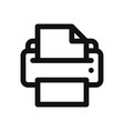 printer icon isolated on white background printer vector image