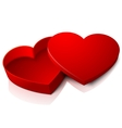 realistic blank bright opened red heart vector image vector image