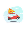 red delivery truck vector image