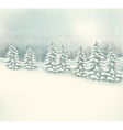 Retro Christmas winter landscape background vector image vector image