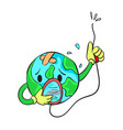 save earth from bad environment doodle vector image vector image