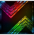 shining neon arrows abstract background