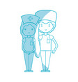 silhouette doctor and nurse to help people vector image vector image