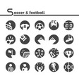 soccer and football icon vector image vector image