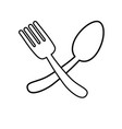 spoon and fork icon vector image vector image