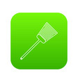 swatter icon green vector image vector image