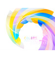 swirling shape colors scene vector image vector image