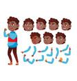 teen boy black afro american teenager vector image vector image