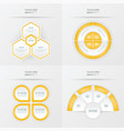 template design 4 item yellow color vector image vector image