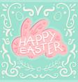 vintage happy easter vector image vector image