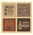 vintage labels for cafe bar restaurant vector image