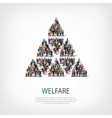 welfare people sign vector image vector image