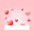 white envelope was opened with hearts floating vector image vector image