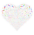 wrench fireworks heart vector image vector image