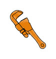 wrench tool adjustable vector image vector image