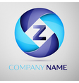 Z letter colorful logo in the circle template for vector image vector image