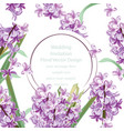 wedding invitation with lily flowers spring vector image