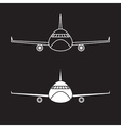 airplane design template vector image