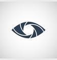 eye shutter logo design template vector image