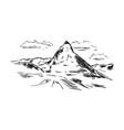 2016-9-5-matterhorn vector image vector image