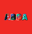 abba concept word art vector image vector image