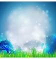 Abstract background with grass and silhouettes of vector image vector image