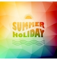 abstract background with summer text vector image vector image