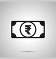 abstract money banknote with indian rupee sign vector image vector image