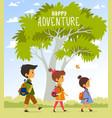 adventure kids vector image