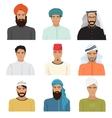 arabian arabic islamic male man character vector image vector image
