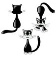 black cat set vector image vector image