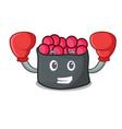 boxing ikura character cartoon style vector image