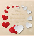 bright valentines day background sparkling paper vector image