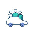 car sharing rgb color icon vector image vector image