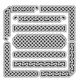 Celtic knots medieval seamless borders vector image vector image