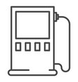 charging energy station icon outline style vector image