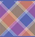color mosaic plaid pixel seamless pattern vector image vector image