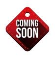 Coming soon hangtag vector image vector image