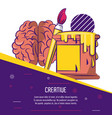 creative mind poster vector image
