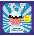 Cupcakes poster design vector image vector image