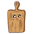cutting board with face character hand drawn vector image