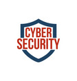 cyber security shield icon or logo isolated on vector image vector image