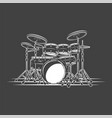 drums isolated on a black background vector image