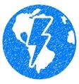 Earth Shock Grainy Texture Icon vector image vector image