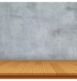empty room with concrete wall and wooden floor vector image vector image